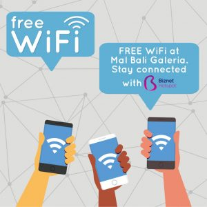 GET FREE WIFI AT MAL BALI GALERIA WITH BIZNET HOTSPOT